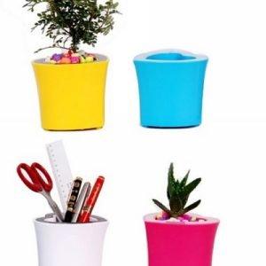 Usb loudspeaker pen holder flower pot