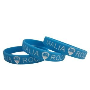 Silicone Custom Wristband-Debossed and Color filled