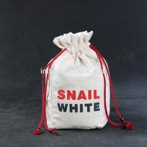 wholesale 100% cotton eco friendly custom cotton drawstring muslin bag