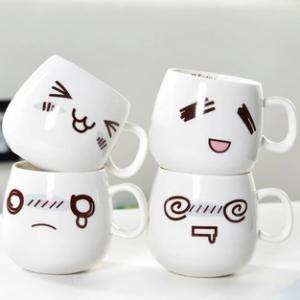 eco-friendly facial mug ceramic drinking mug ceramic cup