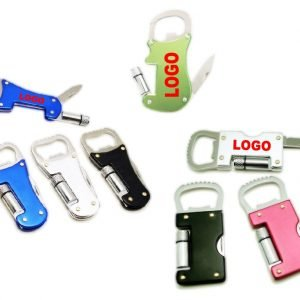 Bottle Opener with Torch and Knife