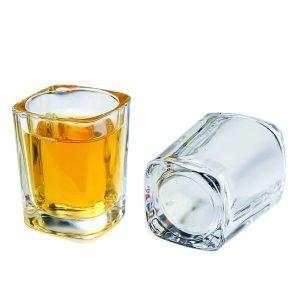 2 oz shot glass bar whiskey vodka glass